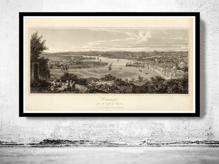 Old Constantinople Istanbul Panoramic View 1811 - product image