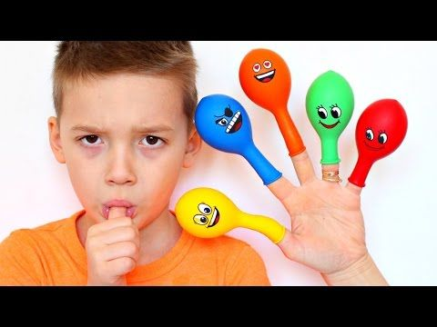 Learn Colors with Baby Balloon Song for Kids | Johny Johny Yes Papa & Finger Family Nursery Rhymes - YouTube