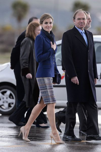 Queen Letizia of Spain Photos: Spanish Royals Depart to France