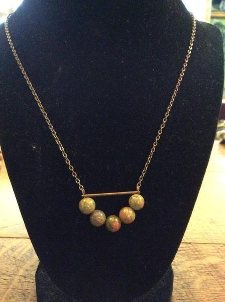 Necklace - Long Strand Antique Brass Necklace
