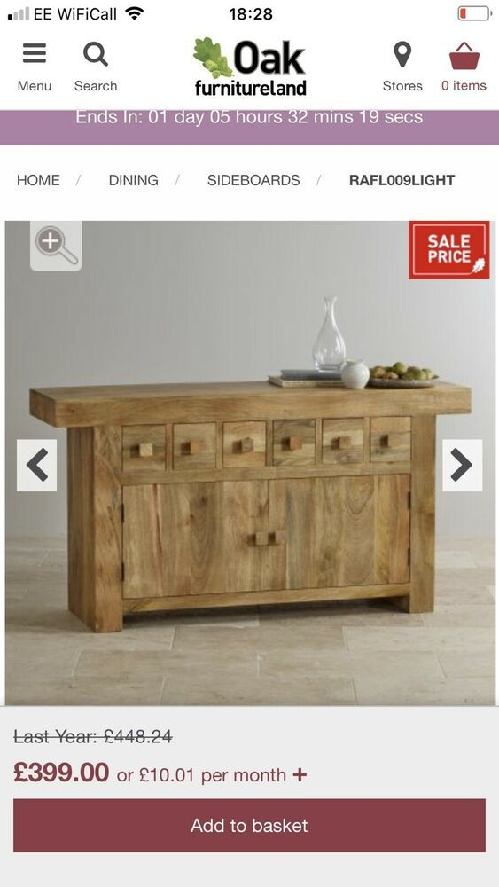 Mantis Sideboard From Oak Furniture Land Solid Mango Wood