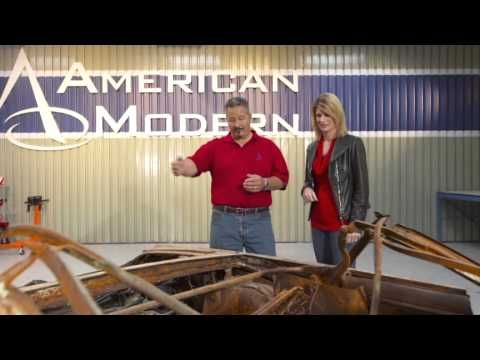 Watch as Rick Drewry, American Modern's Senior Claims Specialist, explains that he and his team are going to use the frame from a 1965 GTO convertible that was badly burned in a garage fire to replace the frame on the 1965 Chevy Chevelle, on The Build. And be sure to follow along on Facebook: http://www.facebook.com/AmericanModernCollectorCar #TheBuild @American Modern Insurance Group