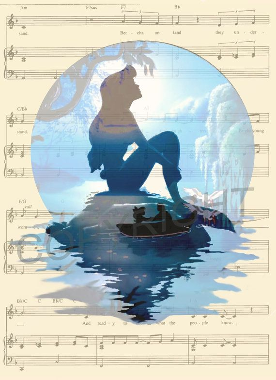 The Little Mermaid Ariel Art Print by AmourPrints on Etsy