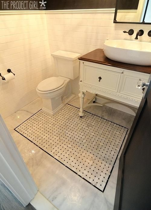 Black And White Mosaic Wall Tile