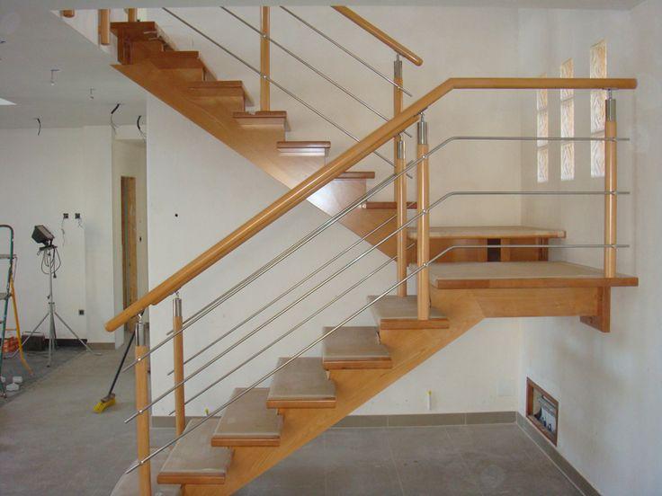 M s de 25 ideas incre bles sobre pasamanos acero - Escaleras de madera para exteriores ...