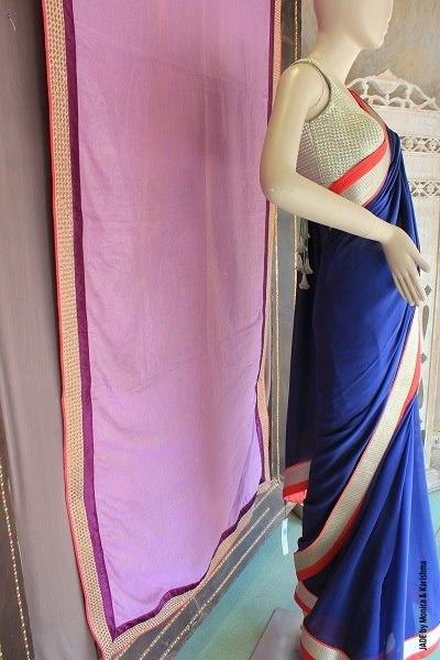 Soulful, peaceful blue!  #JADEbyMK #style #India #sari #classic