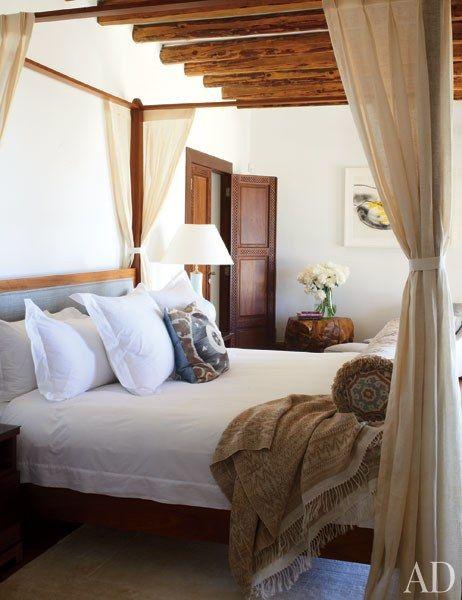Casa Del Bianco bed linens dress the master bedroom's Carden Cunietti–designed fourposter   archdigest.com
