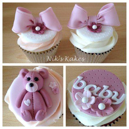 Baby Shower Cupcakes  Cake by Nikskakes