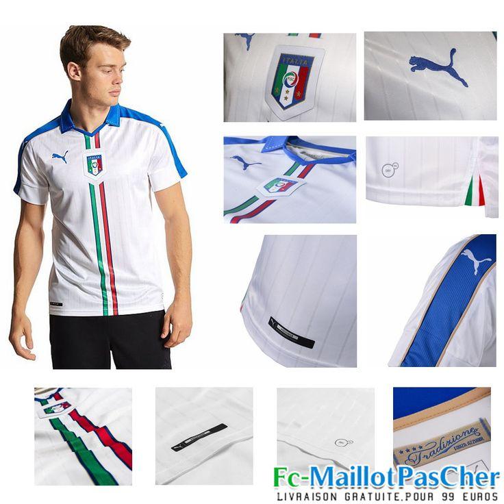 Le Nouveau Maillot football Euro 2016 Italie blanc blanc Exterieur