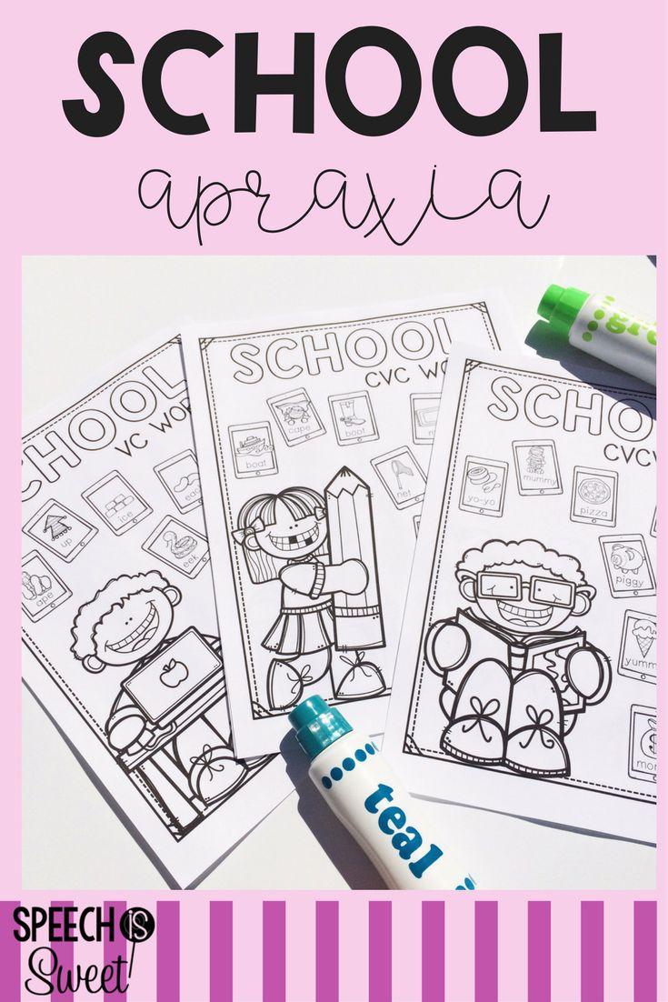 Coloring activities speech therapy - School Apraxia Speech Therapy Activitiesapraxiaplay
