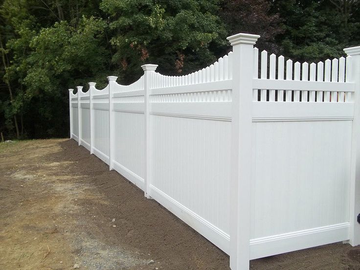40 Ft 6 X 8 Solid Privacy Bottom Colonial Swoop Top Pvc