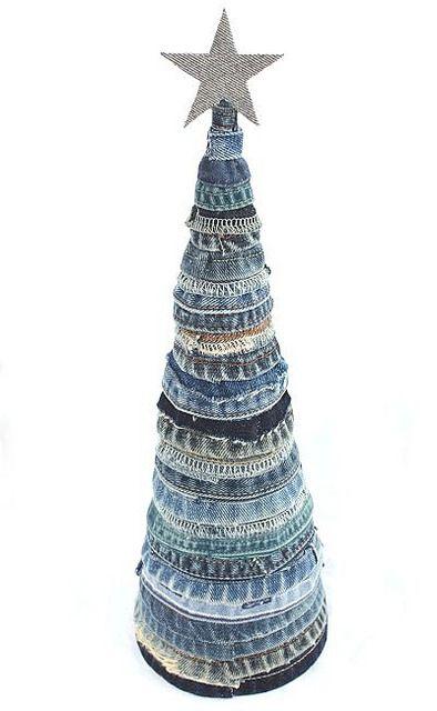 denim jeans christmas tree | handmade blue denim christmas t… | Flickr