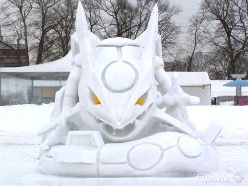 Rayquaza made of ice