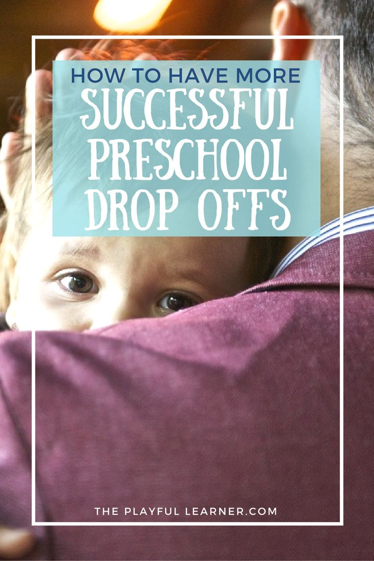 Daycare and Preschool Drop offs can be really difficult for anyone. Read this preschool teacher's tips for having more successful drop offs more often.