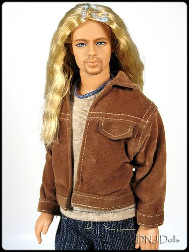 Brad Pitt | This a long hair Brad Bitt ooak ken doll we crea… | Flickr
