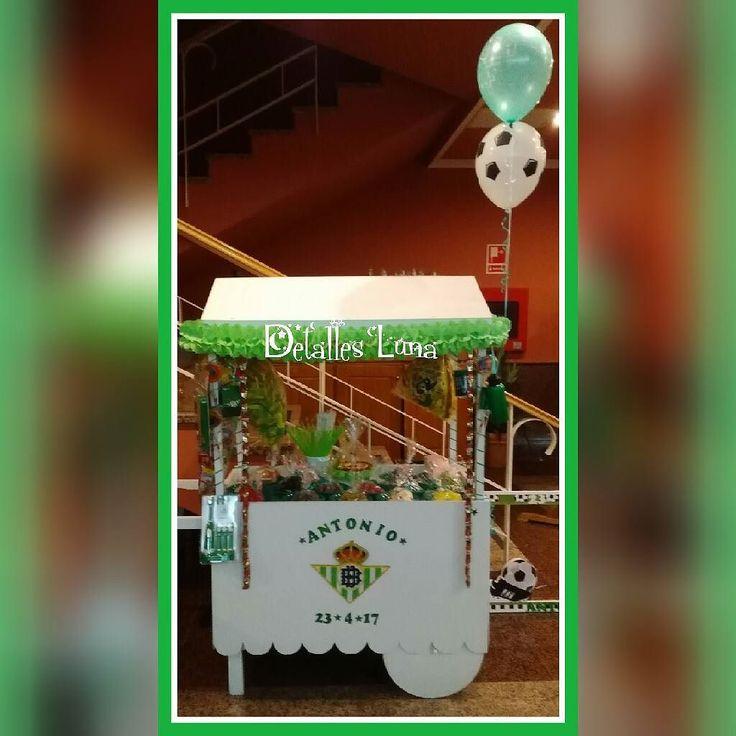 Carro de chuches del Betis felicidades Antonio