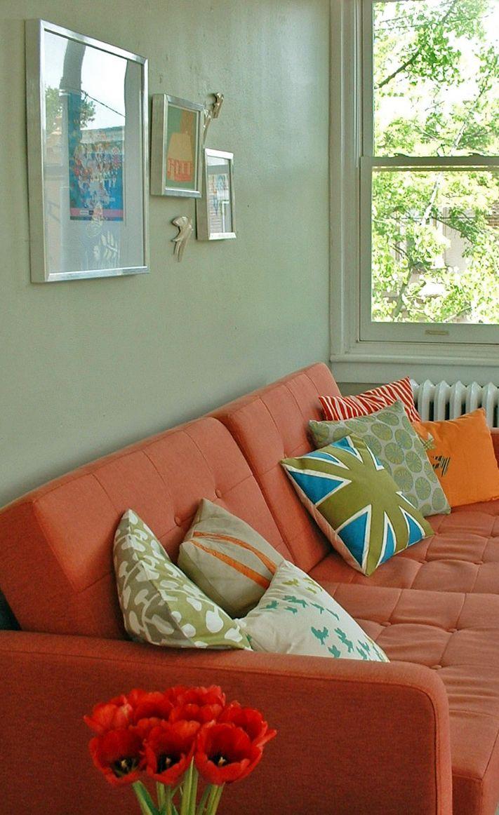 Orange Sofa Living Room 50 Best Images About My Orange Sofa On Pinterest Orange Couch