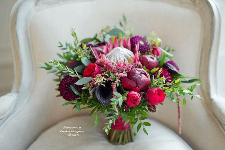 Букет невесты с протеей #букетневесты #свадебныйбукет #букетспротеей #bouquet #bride