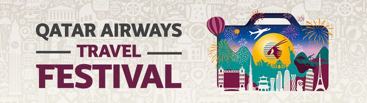 New Offers and Deals: 25% Off Plus Kids Travel for FREE on Qatar Airways from Middle East The Qatar Airways Travel Festival is back and better than ever. Dont miss your chance to choose a dream deal to any of our amazing destinations. Book your ticket by 5 September and save on Economy and Premium Class fares for travel between 15 September 2016 and 30 June 2017. Middle East includes Egypt Bahrain Iran Iraq Jordan Kuwait Lebanon Oman Saudi Arabia United Arab Emirates and Yemen. BOOK NOW…