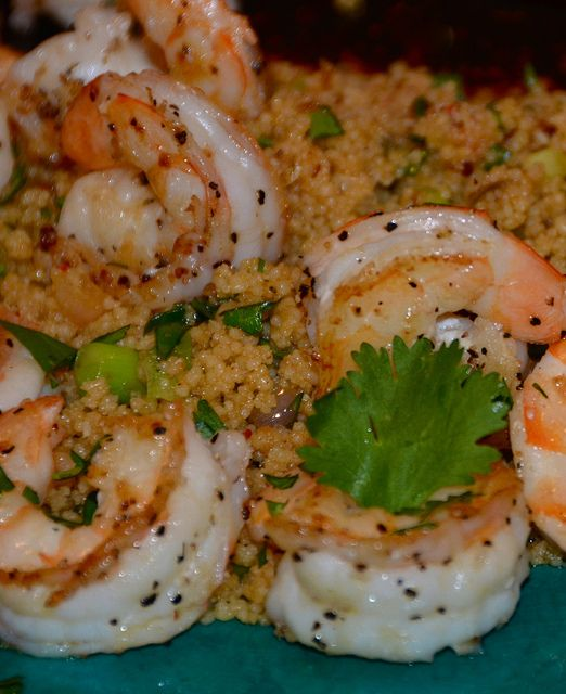 Thai Inspired Couscous with Shrimp by Necessary Indulgences.