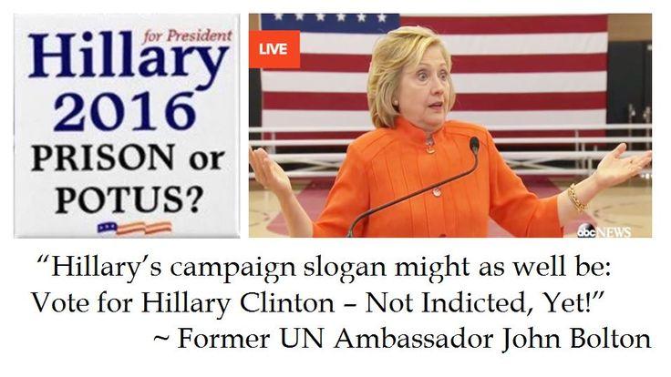 UN Ambassador John Bolton suggests Hillary Clinton campaign slogan