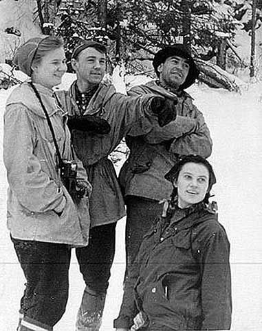 The Dyatlov Pass Incident    Investigators at the time determined that the hikers tore open their tent from within, departing barefoot into heavy snow and a temperature of −30 °C (−22 °F). Although the corpses showed no signs of struggle, two victims had fractured skulls, two had broken ribs, and one was missing her tongue.