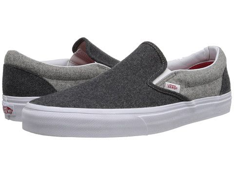 Vans Classic Slip-On™ (Emboss Check) Port Royale Leather - Zappos.com Free Shipping BOTH Ways