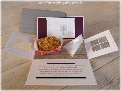 Eine doppelte Explosionsbox zum Einzug als Geschenk für eine liebe Freundin - und so sieht sie geöffnet aus; mit Salz und Brot. ...mehr Bilder auf meinem Blog claudisbastelblog.blogspot.de