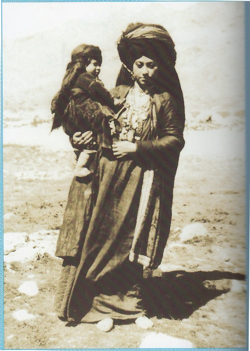 Kurdish woman with her child residing in the Ottoman Empire, 1893