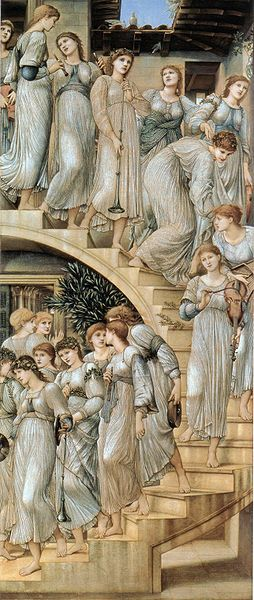"Edward Burne-Jones - ""The Golden Stairs"" 1876-80"