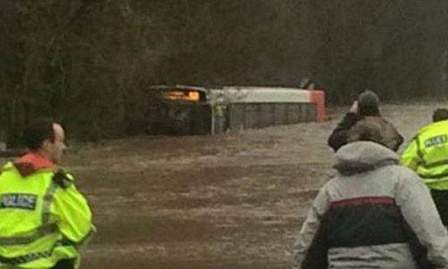 Storm Frank lashes western half of Britain with 80mph gales
