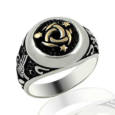 Beelogold - 925K Sterling Silver Design Men Ring