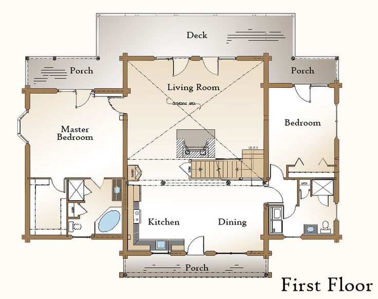 Open kitchen living room floor plan google search our for Living room kitchen open floor plan