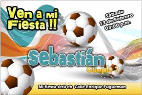 Caso De Futbol Invitaciones Cumpleanos Gratis