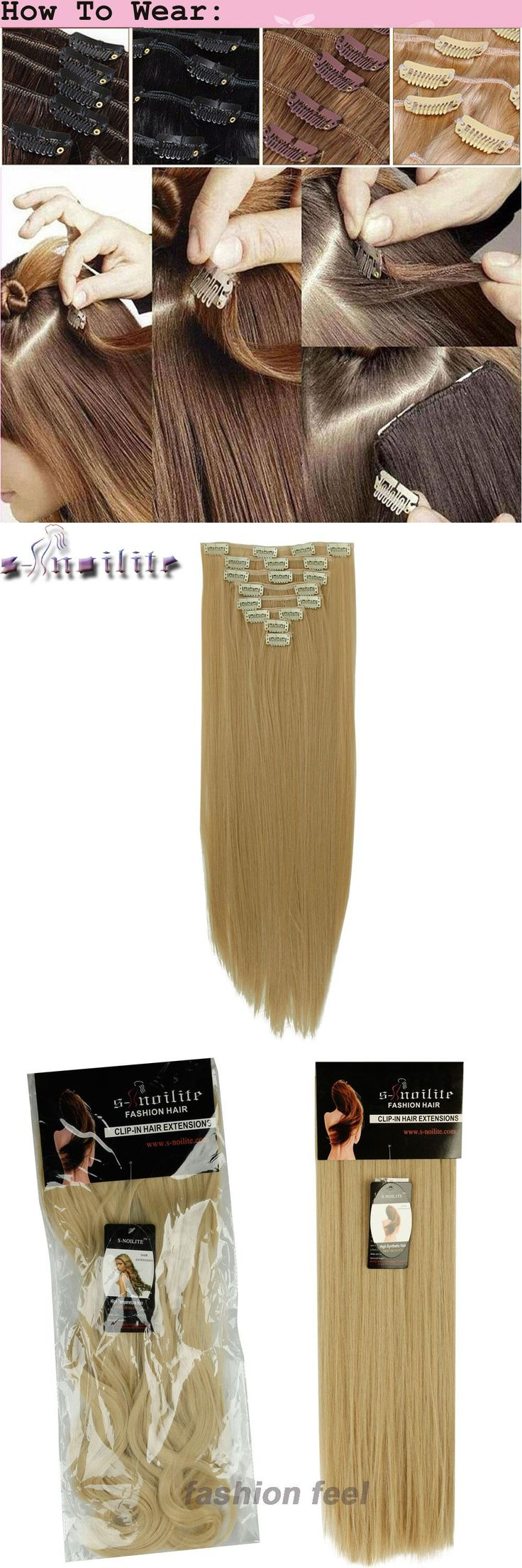 Best 25 real hair extensions ideas on pinterest extensions clip s noilite 24 8 pieces set long striaght double thick 180g clip in pmusecretfo Images
