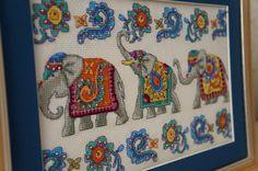 indian elephants cross stitch / индийские слоны - вышивка крестом | Flickr - Photo Sharing!