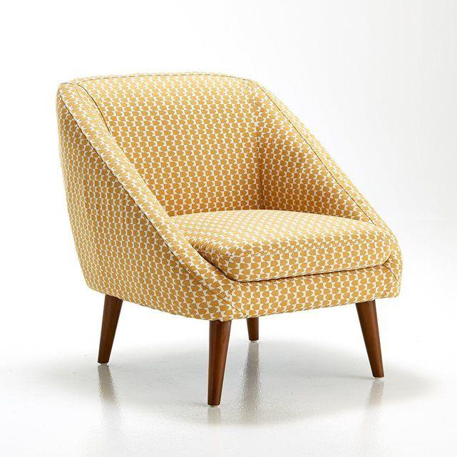 Le fauteuil vintage Séméon. Doté d'un confort enveloppant et d'un design inspiré des années 50, le fauteuil Séméon et son joli piètement fuselé sauront vous séduire par leur superbe allure.Dimensions du fauteuil vintage Séméon :Totales :Largeur : 75 cmHauteur : 80 cmProfondeur : 80 cmAssise : L55 x H44 x P57 cmDescription du fauteuil vintage Séméon :Esprit vintage et piètement fuselé.Revêtement :100% polyester 360 g/m².Confort :Assise moelleuse et bon maintien du dos.Coussins d'assise…