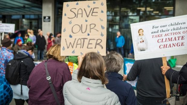 Protesters send message to Environment Canterbury: 'Save our water'