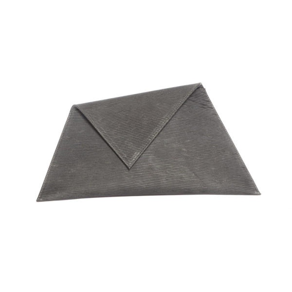Dark Grey Asymmetric Clutch Bag (Limited Edition) by Georgina