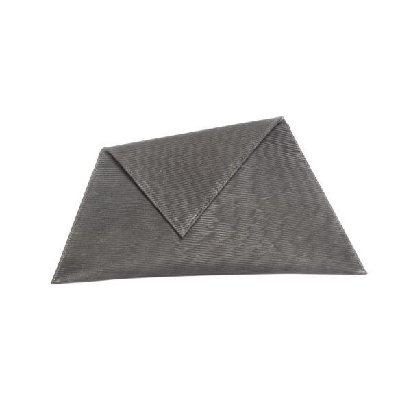 Dark Grey Asymmetric Clutch Bag (Limited Edition) by Georgina