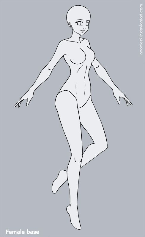 Female Base 2 F2u By Noodles919 Adopts On Deviantart Drawing Superheroes Anime Poses Reference Drawing Poses