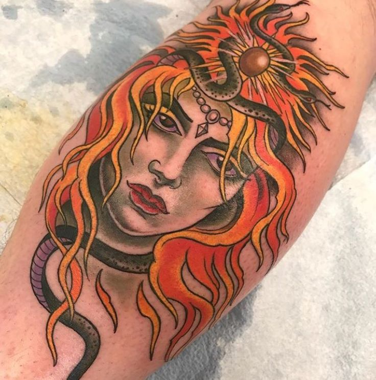 Medusa tattoo by Kim Saigh at Memoir Tattoo
