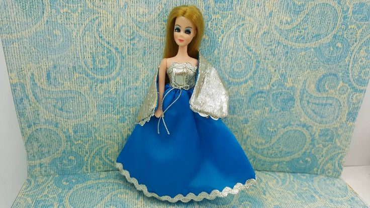 Dawn Doll Bluebelle fashion gown and wrap Outfit 6.5 inch dolls Topper Dawn Angie Glori Jessica #dollclothes #vintagetoy