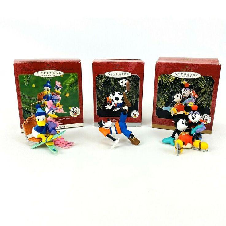 3 Hallmark Keepsake Disney Mickey Minnie Donald Daisy