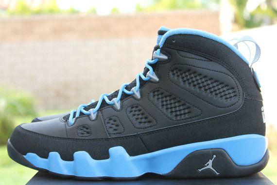56edede49d7 Young Air Jordan 9 Big Boys Shoe Slim Jenkins Black Matte Silver University  Blue 302370 045