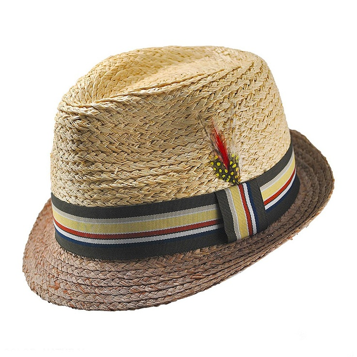 Straw fedora with feather: love it!