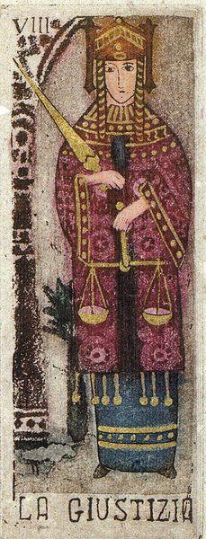 VIII Justice - La Corte dei Tarocchi  Creado por Anna Maria D'Onofrio.  Tarot en formato…