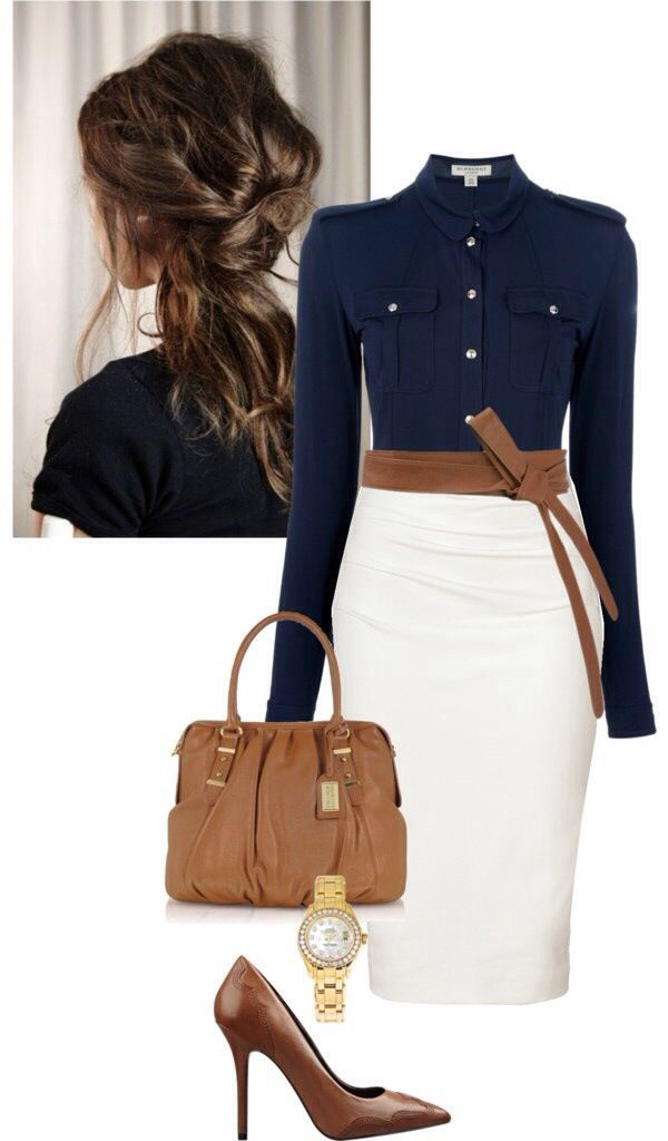 Real chic classy outfit for work