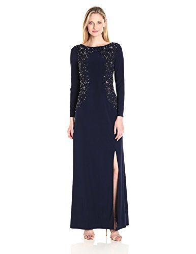 fe402f69e85 Alex Evenings Women s Embroidered Evening Dress