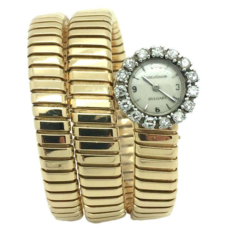 bulgari jaeger le coultre yellowwhite gold serpenti tubogas bracelet wristwatch from a unique